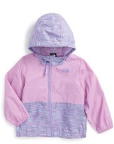 The North Face Infant Girl's Flurry Hooded Windbreaker Jacket