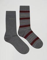 HUGO BOSS BOSS By Striped Socks In 2 Pack