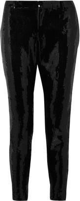 Saint Laurent Sequined Crepe Slim-leg Pants