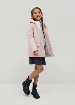 MANGO Faux-fur lining jacket