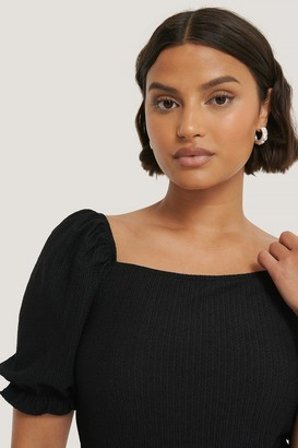 NA-KD Puff Crepe Top