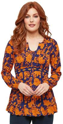 Joe Browns Round-Neck Floral Blouse