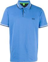 HUGO BOSS embroidered logo polo shirt - men - Cotton/Spandex/Elastane - L