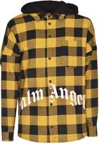 Palm Angels Hooded Oversized Checked Jacket