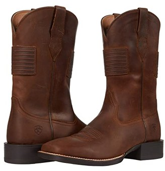 Ariat Sport Patriot II (Distressed Tan) Cowboy Boots