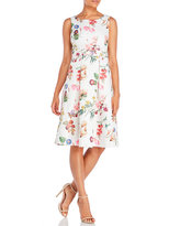 Yumi Botanical Floral Print Jacquard Dress