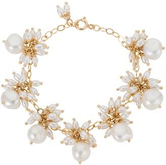 Amadeus Venus White Pearl Dangle Gold Chain Bracelet
