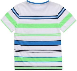 HUGO BOSS Boys Short Sleeve Stripe T-shirt - Green