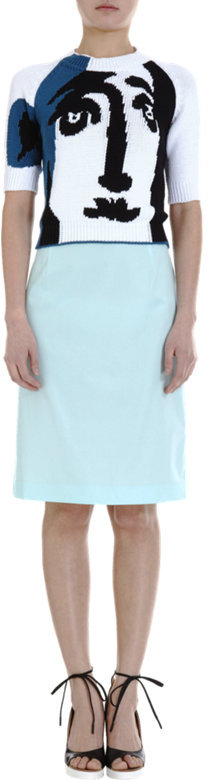 Jil Sander Gathered Back Skirt