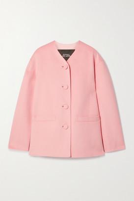 Marc Jacobs Wool, Cashmere And Silk-blend Felt Jacket - Pink