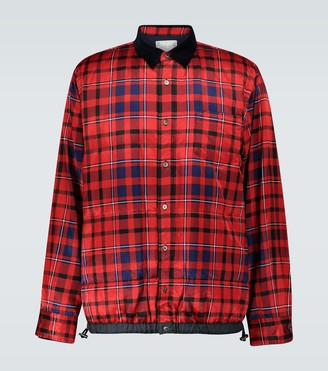 Sacai Checked shirt jacket