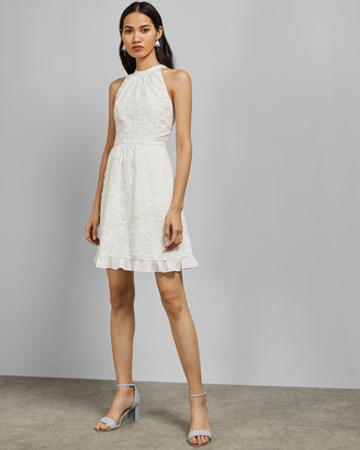 Ted Baker LORENE Halter neck skater embroidery dress