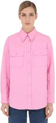 Calvin Klein Jeans Cotton Twill Utility Shirt