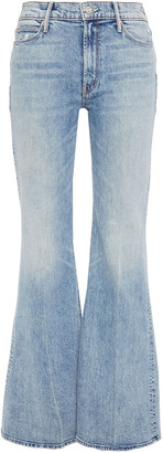 Mother Faded High-rise Flared Jeans