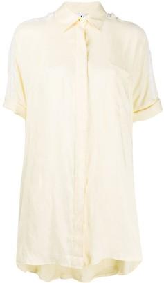 adidas Three-Stripe Satin Shirt Dress