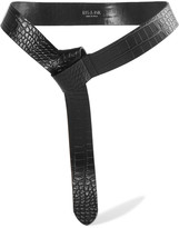 Iris and Ink Charlie croc-effect leather wrap belt