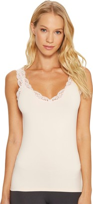 Only Hearts Women's Delicious with Lace Deep V Tank Top
