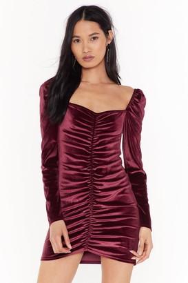 Nasty Gal Womens Lust Ruche Velvet Mini Dress - Rose