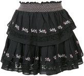 Love Shack Fancy - embroidered mini skirt - women - Cotton - 0