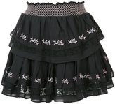 Love Shack Fancy embroidered mini skirt