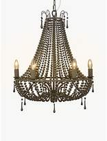John Lewis Marilyn Beaded Paris Chandelier, Grey