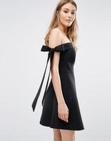 Keepsake Off Shoulder Bow Detail Dress
