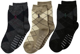 Polo Ralph Lauren Argyle Slack 3-Pack (Infant/Toddler) (Multi) Men's Crew Cut Socks Shoes