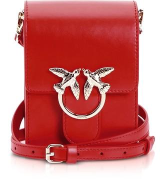 Pinko Women/'s Mini Love Shiny Pearl C//Spallaccio Laminato+perle Shoulder Bag