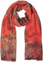 Mila Schon Ornamental and Pattern Printed Satin Silk Stole