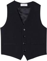 Paolo Pecora Blue Elegant Vest With Button Closure