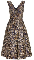 Prada Metallic Jacquard Printed Dress
