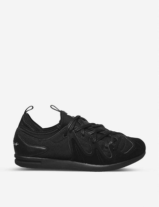 Adidas Y3 Manja suede and mesh trainers