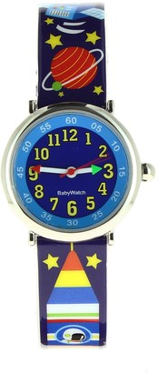 Baby Watch Baby Educational Space 606108WatchBoys WatchQuartzBlue Plastic Strap Multicoloured Dial