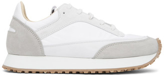 Spalwart White and Grey Tempo Low Sneakers