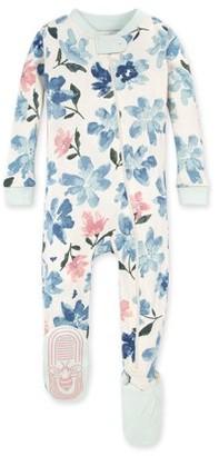 Burt's Bees Baby Organic Baby Girls 1-Piece Snug Fit Footed Pajamas (12M-24M)