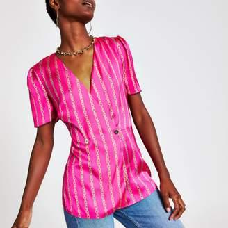 River Island Womens Pink chain print blouse
