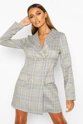 boohoo Tonal Check Blazer Dress