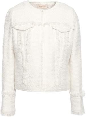 Tory Burch Lindsay Frayed Boucle-tweed Jacket