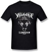 AICH Men's Yelawolf Slumadian Tour Logo Black T Shirt Size M