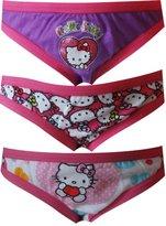 Fruit of the Loom Hello Kitty 3 Pack Girls Bikini Style Panties for girls
