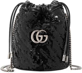 Gucci GG Marmont mini sequin bucket bag