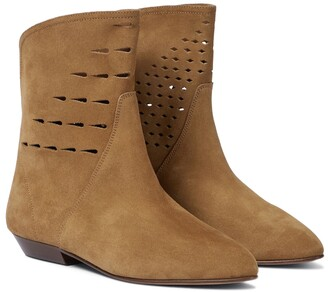 Isabel Marant Sprati perforated suede ankle boots