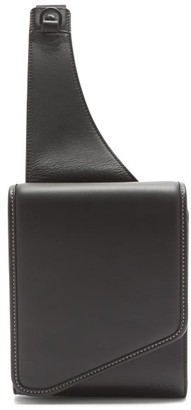 Paul Smith Topstitched Leather Cross-body Bag - Black