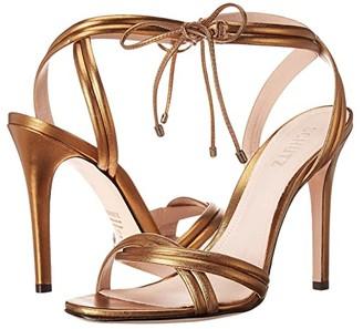 Schutz Yvi (Bronze Metallic Nappa) Women's Dress Sandals