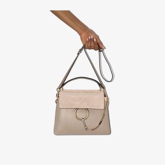 Chloé Grey Faye Mini Leather Tote Bag