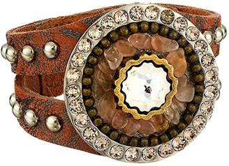 Leather Rock Maxine Bracelet