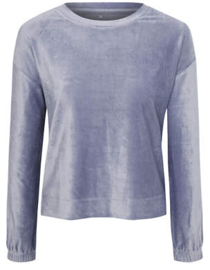 George Blue Velour Loungewear Top