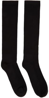 Rick Owens Black Performa FW20 Mid-Calf Socks