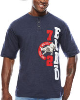 Ecko Unlimited Unltd. Side By Side Short-Sleeve Henley Tee - Big & Tall