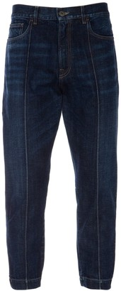 Prada Cropped Baggy Fitted Jeans